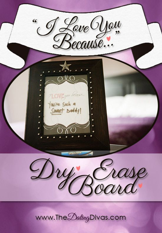 FREE printable download to make your own love note dry erase board. www.TheDatingDiva... #free #printable #lovenote