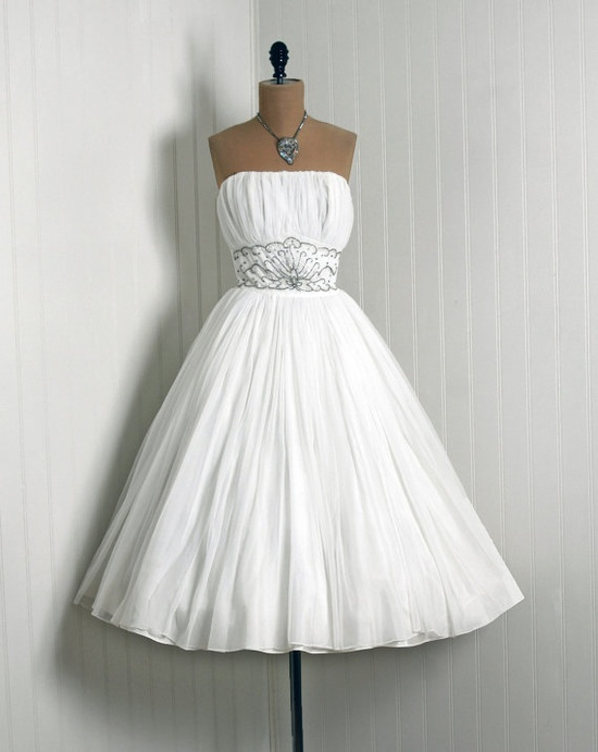 1950's vintage wedding dress.