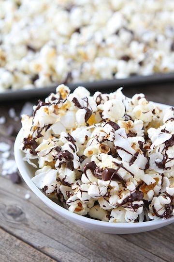 coconut dark chocolate pOpcorn
