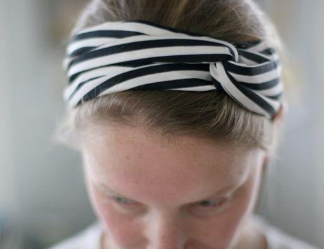DIY: sewing a turban twisted scarf