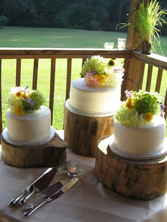 Rustic Wedding Cakes by TinyCarmen