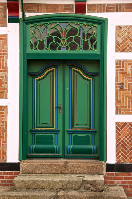 Gorgeous doorway. Love all the brickwork also.