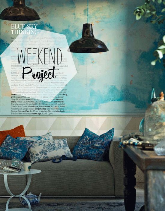 Weekend Project - Toile-inspired walls - photo by by James Merrel for Livingetc.
