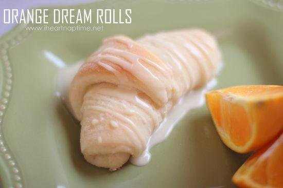 Orange sweet rolls on iheartnaptime.net . Like a cinnamon roll, but better! #dessert #recipe