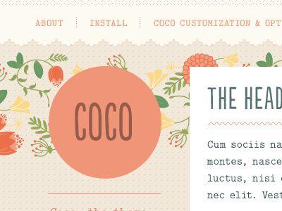 Coco #site #web #design #typography #logo #branding #identity