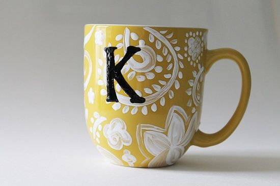 Anthropologie Inspired DIY Coffee Mug #pet girl #pet boy