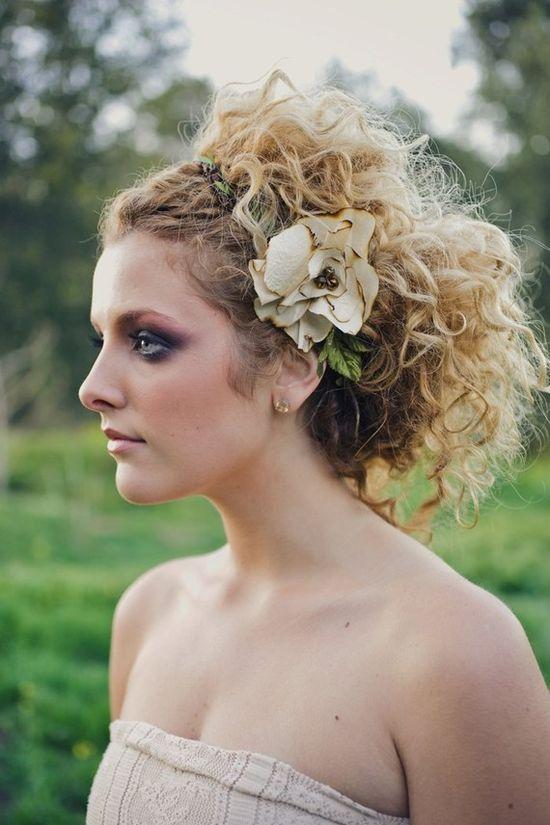Rustic bridal halo weddings