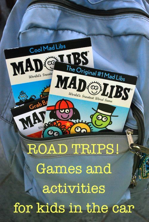 Games/Activities for Kids on Road Trips
