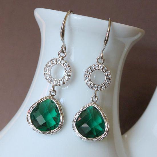 I need some emerald earrings