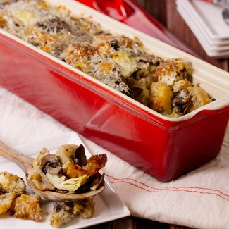 Side #Stuffing with #Artichokes and Cremini #Mushrooms