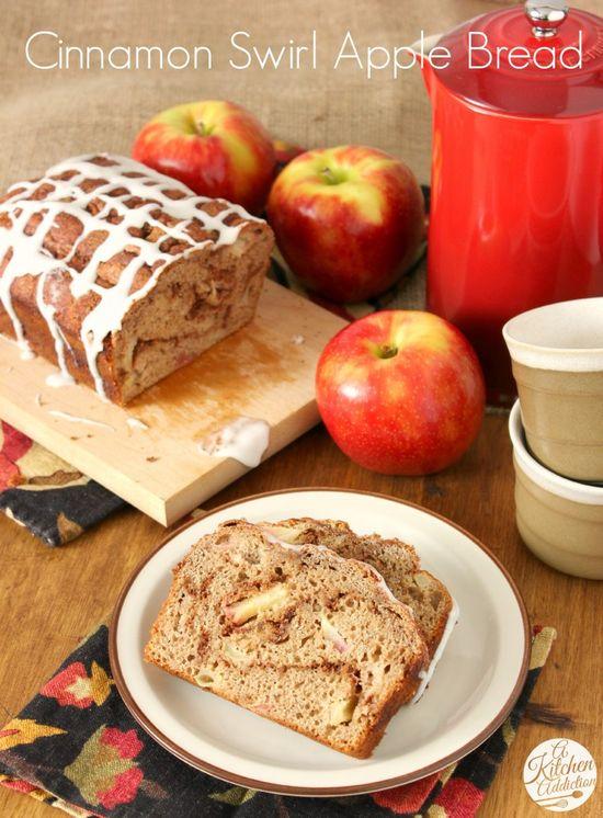Whole Wheat Cinnamon Swirl Apple Bread l www.a-kitchen-add...