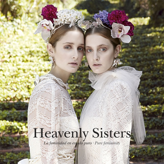 Heavenly Sisters by YolanCris  #bride #fashion #wedding #glamour #weddingdresses #bridal #gowns #romantic #classic #elegance #ethereal #handmade #artisan #couture #novia #sposa #noiva #mariée #abiti #sleeve