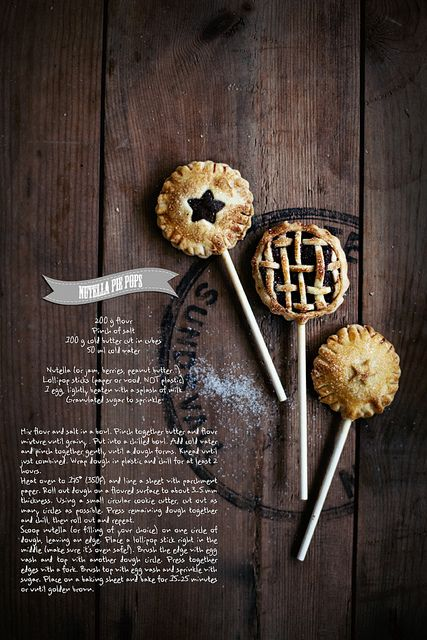 Pie pops by Call Me Cupcake #pie #pops #piepops #rustic