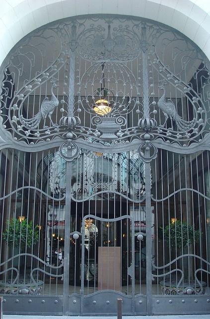 Art Nouveau gate, Four Seasons Hotel Gresham Palace, Budapest