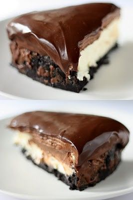 Chocolate mousse cheesecake.