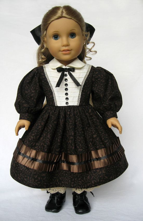 American Girl Doll Clothes Mid 1800's Dress  and Pantalettes