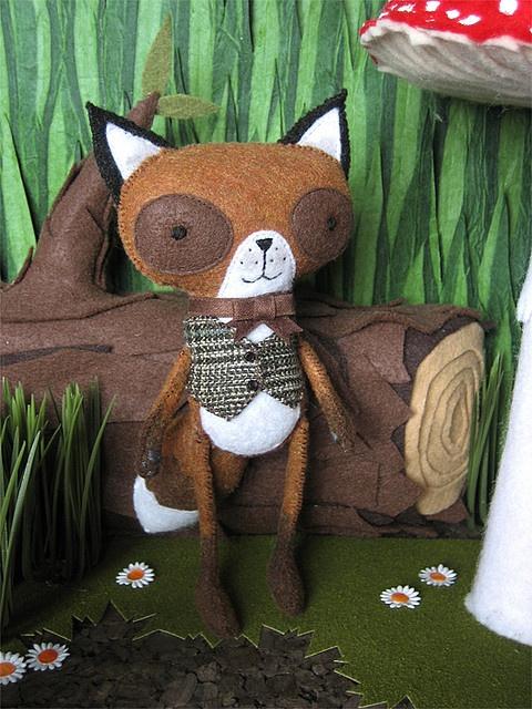 Fox made out of felt