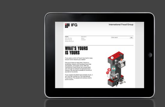 International Fraud Group - Graphic Design by October Design