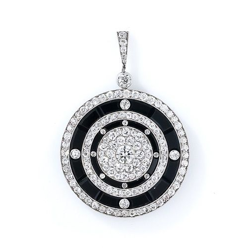 Art Deco Onyx and Diamond Locket