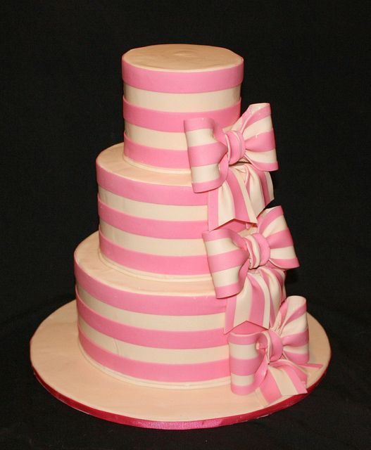Striped Birthday Cake