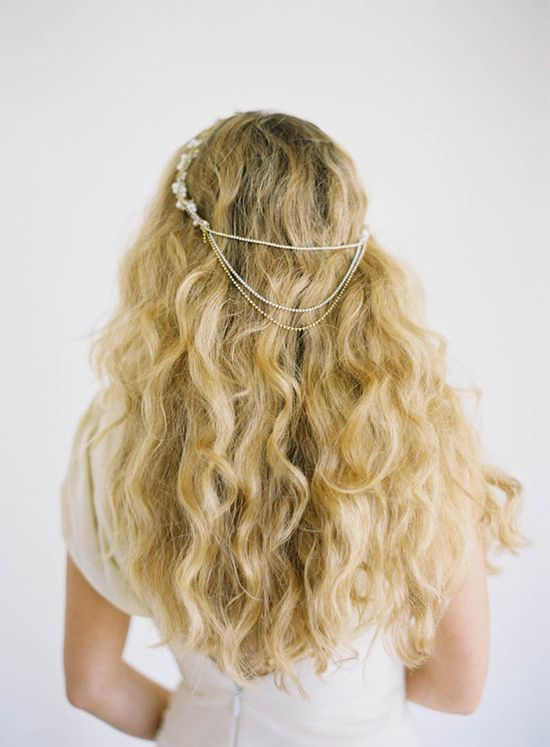 vintage styled headband + loose curls // photo by Jen Huang, accessory by Olivia Nelson, styling by Borrowed Blu // view more: ruffledblog.com/...