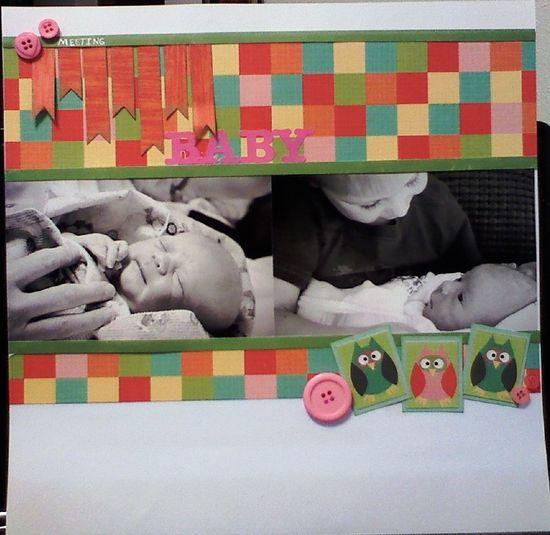 Meeting Baby - Scrapbook.com