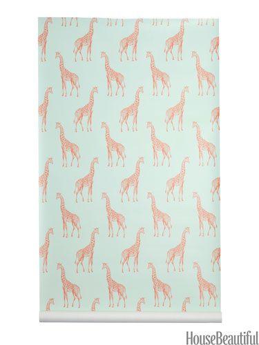 A parade of regal giraffes wallpaper.