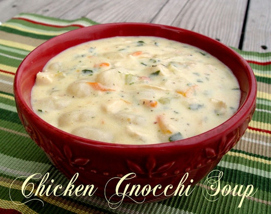 Chicken Gnocchi Soup...only takes about 30 minutes to prepare...maybe without the meat.