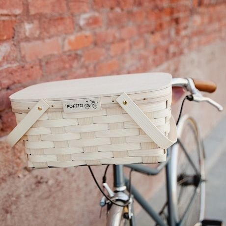 adorable picnic bike basket
