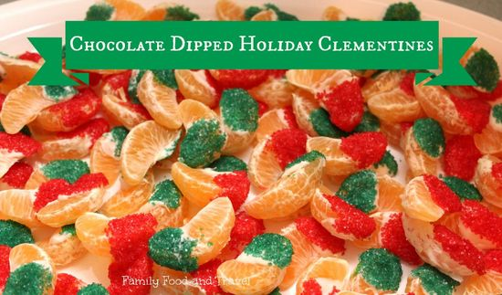 Chocolate Dipped Clementines - Family Food And Travel