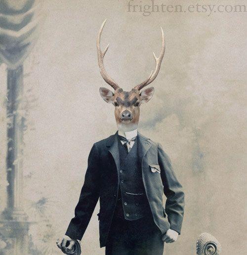 Deer Boy, by Frighten on Etsy.