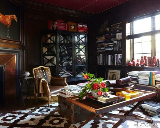 La Dolce Vita: Anatomy of a Home: The Study - leather & deerskin upholstered chair