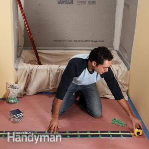 A great bathroom tile job starts with the right layout. Check out these tile installation tips before you start your next bathroom tile project.