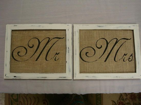Mr and Mrs Signs 8x10 by TheWeddingHub on Etsy, $26.00