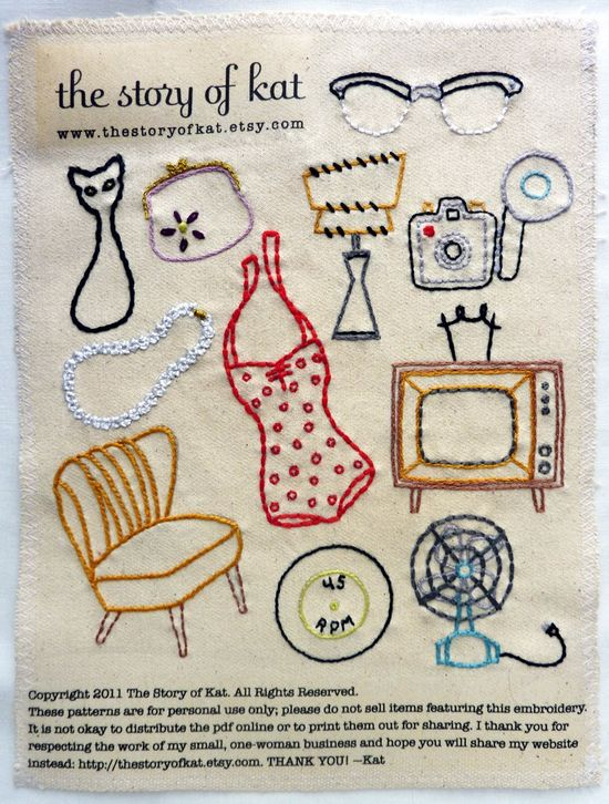 Vintage Shop Embroidery Pattern