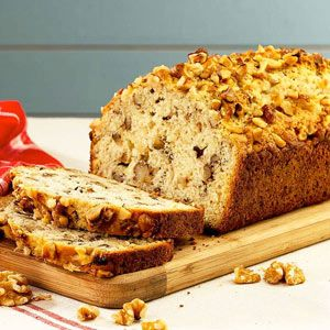 This tasty bread has a hint of banana flavor with an added crunch from Diamond of California walnuts.