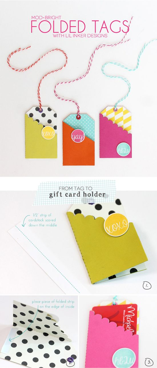 Easy folded gift-card tags...