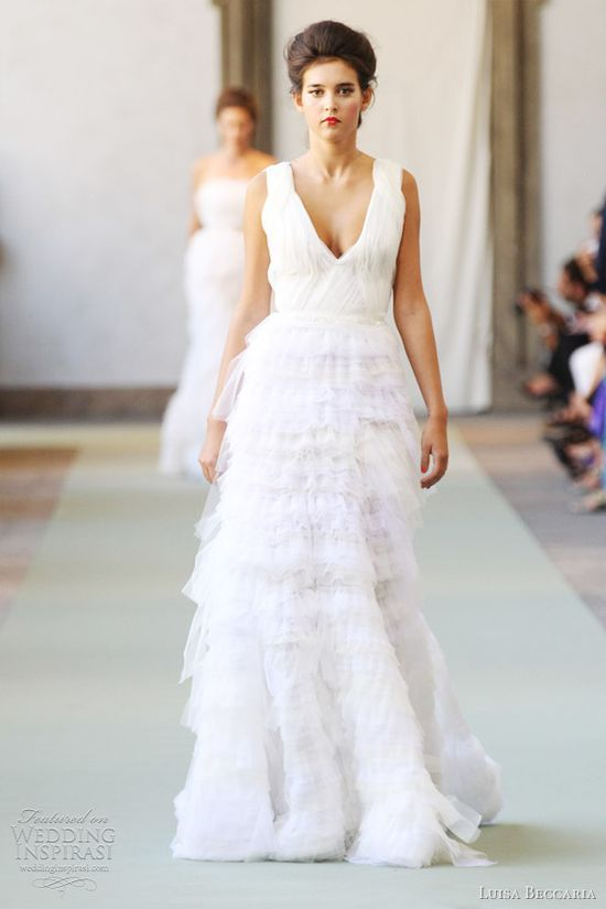 Luisa Beccaria Spring/Summer 2012 #weddingdress #tiered