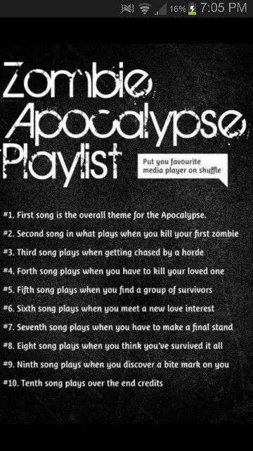 I got this: Cups-Anna Kendrick (What A) Wonderful World-Sam Cooke Still the One-One Direction We're Going To Be Friends-Jack Johnson Cry With You-Hunter Hayes A Drop In the Ocean-Ron Pope Don't Say A Word-Ellie Goulding Don't Trust Me-3Oh!3 Where Did Our Love Go-Diana Ross Lose Yourself-Eminem I used Pandora for this.