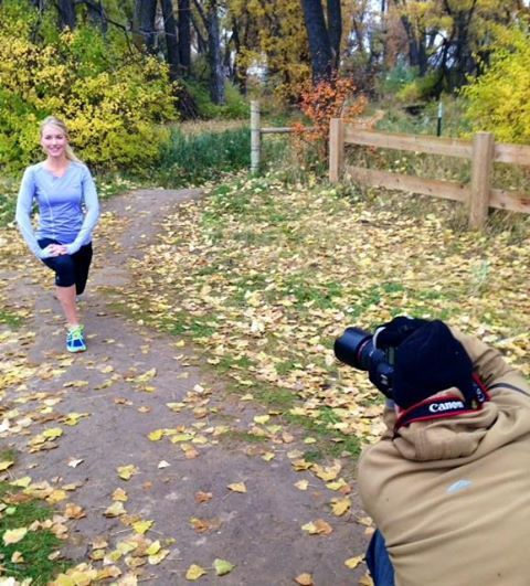 Stonewear #model Brenna worked hard for our #Fall 2014 #photoshoot! #catalog #activewear #style #fashion #autumn #workout #exercise #fitness #lunges