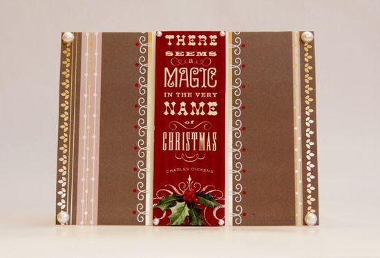 Handmade Christmas Card - Magic in Christmas