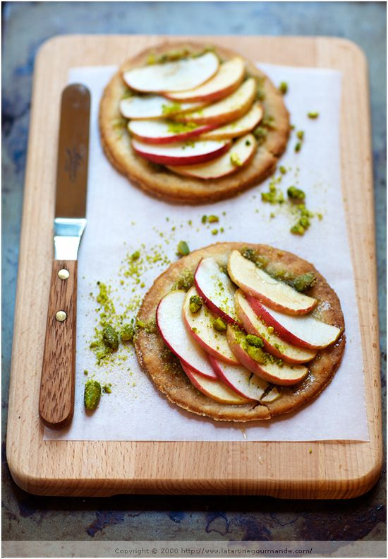 Apple Tarts with Pistachios