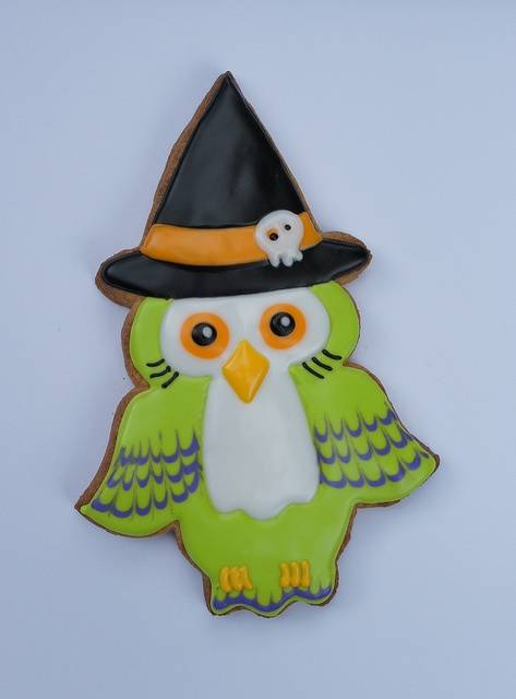Wide eyed owl cookie