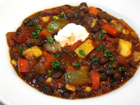 Vegetable and black bean Chili