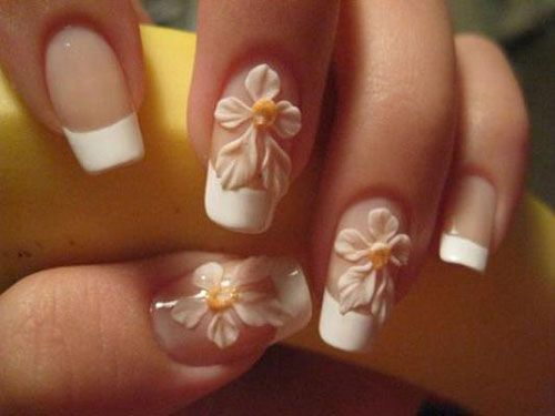 3d brides nails art
