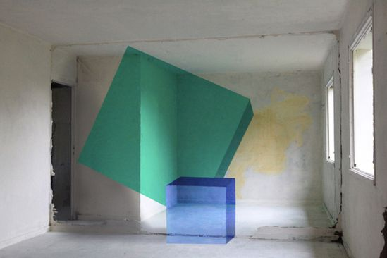 cube illusion street art