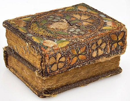 Antique Pslams Book, Embroidered Cover, 17th Century