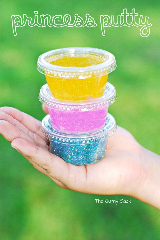 """Princess Putty"" – a sparkly and fun DIY party favor"
