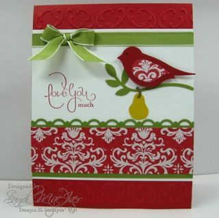 Bird punch -great Christmas card
