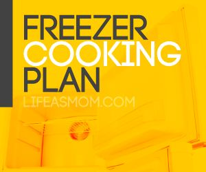 Lists of freezer cooking plans (Breakfasts, Holiday Baking, Dinner on the run, et)